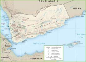 Yemen tourist map